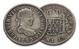 1772-1825 Spain 1/2 Real VG