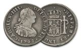 SPAIN 1772-1825 SILVER 1/2 REAL VF