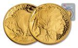 2017-W 50 Dollar 1-oz Gold Buffalo Proof PCGS PR69DCAM First Strike Flag Label