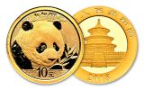 2018 China 1 Gram Gold Panda Brilliant Uncirculated