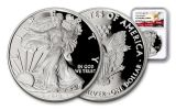2018-W 1 Dollar 1-oz Silver Eagle NGC PF70UCAM Early Releases Eagle Label