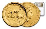 2018 Australia 15 Dollar 1/10-oz Gold Kangaroo NGC MS69 First Releases