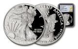 2018-W 1 Dollar 1-oz Silver Eagle NGC PF70UCAM Early Releases Gold Star Label - Black