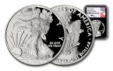 2018-W 1 Dollar 1-oz Silver Eagle NGC PF70UCAM First Day Of Issue Mercanti Signed - Black
