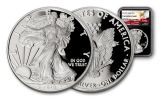 2018-W 1 Dollar 1-oz Silver Eagle NGC PF69UCAM Eagle Label - Black
