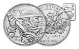 2018-P 1 Dollar Silver World War I Centennial NGC MS70 First Releases Everhart Signed