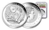 2018 Australia 1 Dollar 1-oz Silver Koala NGC Gem First Releases