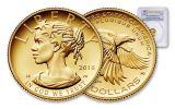 2018-W 10 Dollar 1/10-oz Gold Liberty High Relief PCGS PR70DCAM First Strike Flag Label