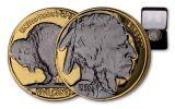 1930s 5 Cent Gold Buffalo Black Ruthenium Plating