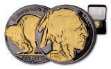 1930s 5 Cent Buffalo Black Ruth Gold Plating