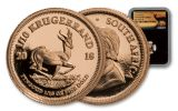 2018 South Africa 1/10 Ounce Gold Krugerrand NGC PF70 Black Core