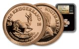 2018 South Africa 1/10-oz Gold Krugerrand NGC PF70UC First Releases - Black Core, Tumi Signature Label