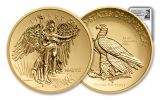 2018 Saint Gaudens 1-oz Gold Winged Liberty Ultra High Relief Reverse Proof NGC PF70 Mercanti Signed