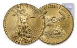 2018-W $50 1 Ounce Burnished Gold American Eagle PCGS SP70 FDI - Flag Label