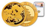 2019 China 1 Gram Gold Panda NGC MS69 First Releases - Temple Label