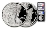2019-W $1 Silver American Eagle 3-Piece Set NGC PF70UC First Day of Issue - Black Core, Mercanti/Jones/Moy Signed Labels