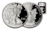 2019-W $1 Silver American Eagle NGC PF70UC First Day of Issue - Black Core, WDC Mercanti Signed Label