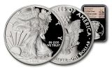 2019-W $1 1-oz Silver American Eagle NGC PF70UC First Day of Issue - Black Core, Exclusive Weinman Label