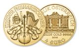 2019 Austria 1/25-oz Gold Philharmonic BU
