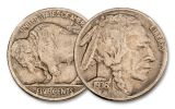 1930–1937-S Buffalo Nickel 5-Piece Set VF