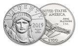 2019 $100 1-oz Platinum American Eagle BU