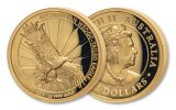 2019 Australia $100 1-oz Gold Wedge Tailed Eagle High Relief Proof