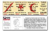 2019 Cook Islands $1 Silver Woodstock 1969 Ticket PMG GEM Uncirculated 70