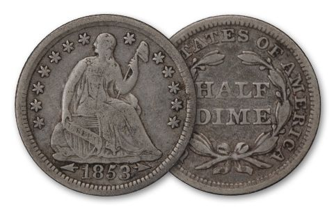 1837-1873 Half Dime Seated Liberty F/VF