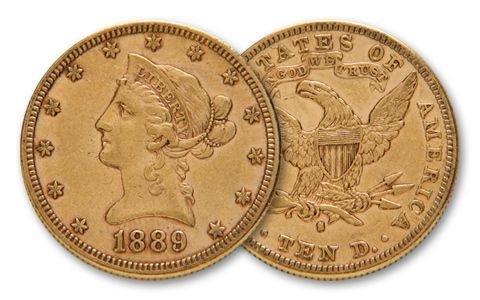 1838-1907 10 Dollar Liberty XF