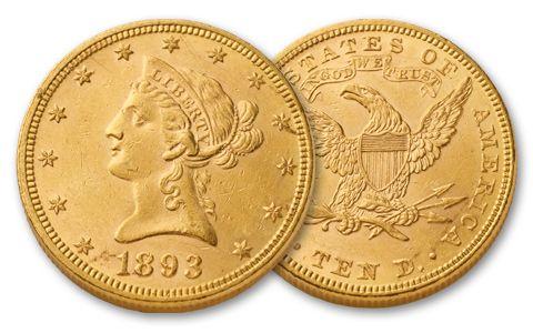 1838-1907 10 Dollar Liberty Uncirculated