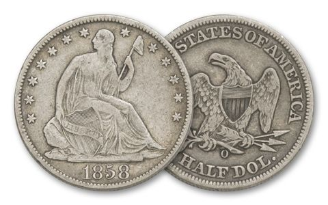 1839-1891 50 Cent Seated Liberty