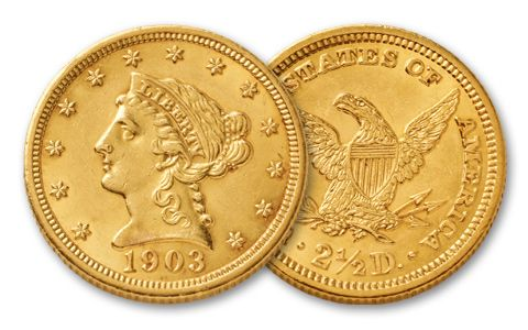 1840-1907 2 and a Half Dollar Liberty