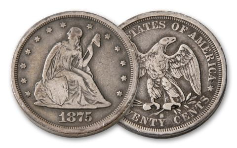 1875-1878 Twenty Cent Seated Liberty VG