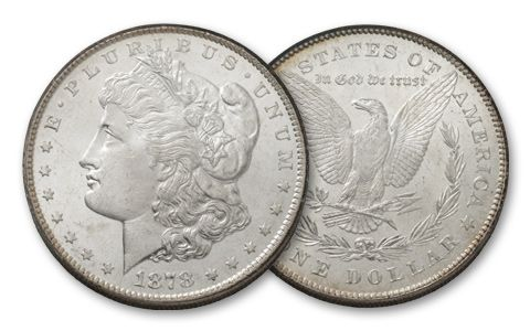 1878-P Morgan Silver Dollar 7 Tail Feathers BU