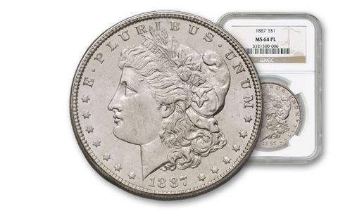 1880-1904 Morgan Silver Dollar NGC PCGS MS64