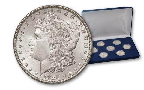 1880-1921 Morgan Silver Dollar BU Treasury Hoard 7 Pc