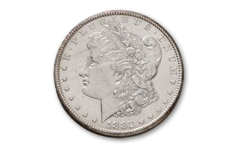 1882-1884-CC Morgan Silver Dollar 3 Pieces Set