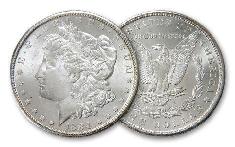 1884-P Morgan Silver Dollar BU