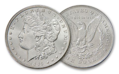 1885-CC Morgan Silver Dollar BU