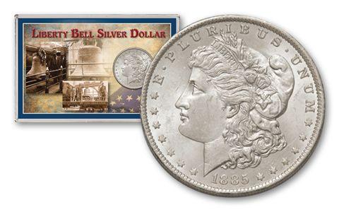 1885-O Morgan Silver Dollar Liberty Bell BU