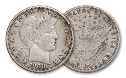 1892-1915 50 Cent Barber VF