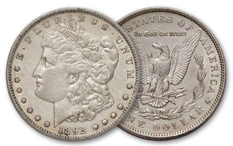 1892-P Morgan Silver Dollar XF