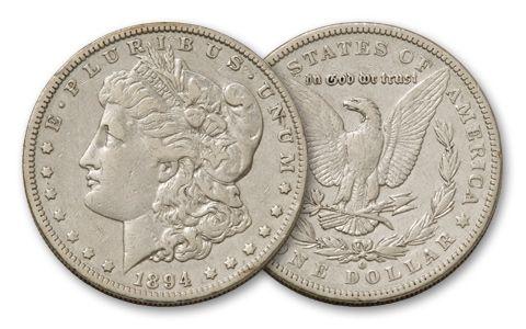 1894-O Morgan Silver Dollar VF