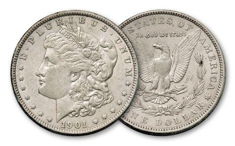 1901-P Morgan Silver Dollar XF