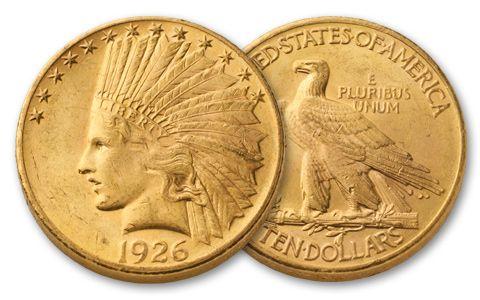 1907-1932 10 Dollar Indian Uncirculated