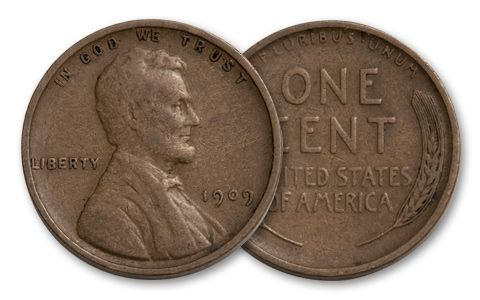 1909 1-Cent Collection 3 Pieces