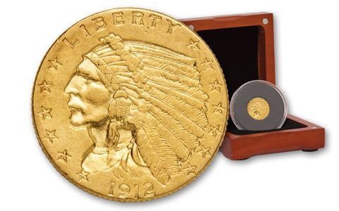 1912-P 2.50 Dollar Gold Indian Titanic XF