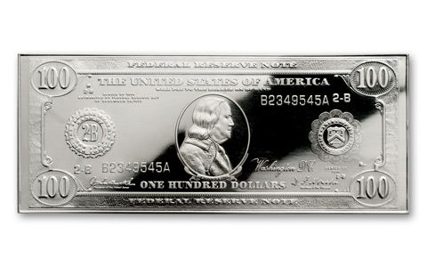 1914 Franklin Silver Proof - 100th Anniversary - $100 Tribute Banknote