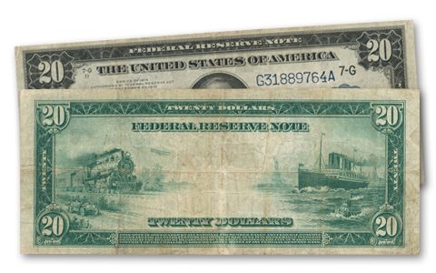 1914 20 Dollar Federal Reserve Note