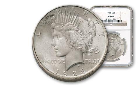 1923-1925 Peace Dollar NGC PCGS MS64